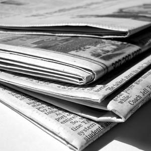 Newspapers Pile