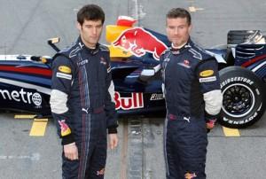 Red Bull Webber and Coulthard