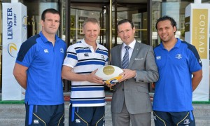 Conrad Supports Leinster Rugby