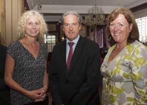 Karen Hand, Aidan Cotter and Margaret Gilsenan at the John Fanning event