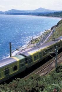 Irish Rail Dart in Killiney