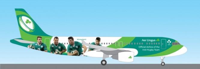 IRFU Branded Aer Lingus Aircraft