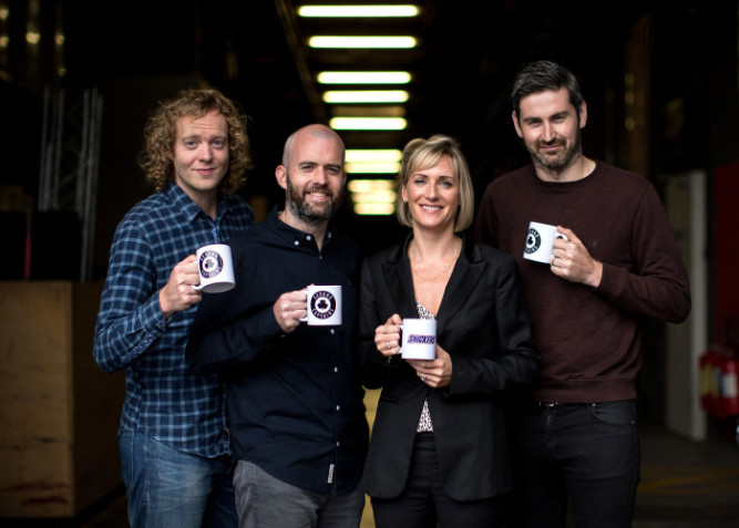 Pictured (L-R) Second Captains Ken Early, Eoin McDevitt and Ciaran Murphy alongside Jane Chmara, Marketing Manager, Mars Ireland