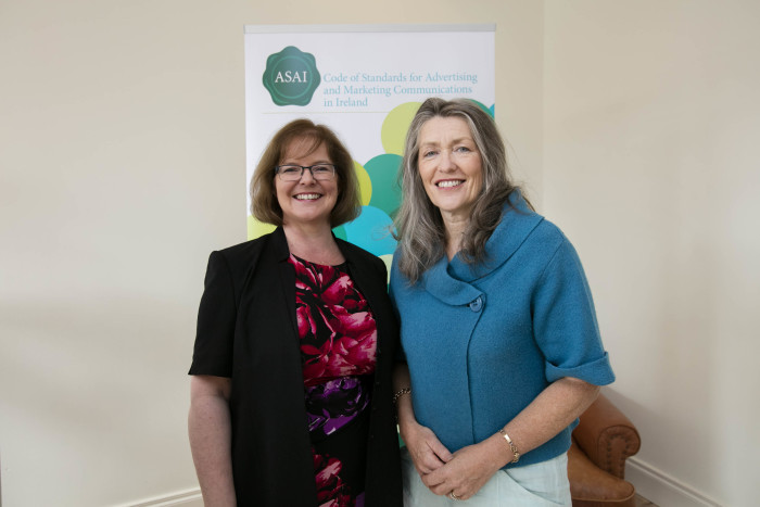 Orla Twomey, Assistant Chief Executive of the ASAI with Catherine Bent ASAI Board Member