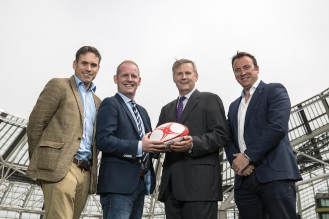 REPRO FREE***PRESS RELEASE NO REPRODUCTION FEE*** RTÉ Sport's Partnership with Accenture Announcement, Aviva Stadium, Dublin 9/6/2016 Pictured at the announcement this morning in the Aviva Stadium of RTÉ Sport's partnership with Accenture for live coverage on RTÉ Radio 1 of the Ireland Rugby summer tour of South AfricaAccenture Rugby Club. Mandatory Credit ©INPHO/Dan Sheridan