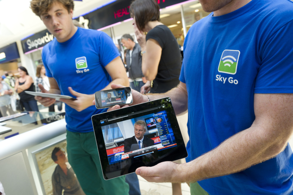 Sky Go at Bluewater BLuewater Shopping Centre13th August 2011 ©Chris Lobina for BSkyB