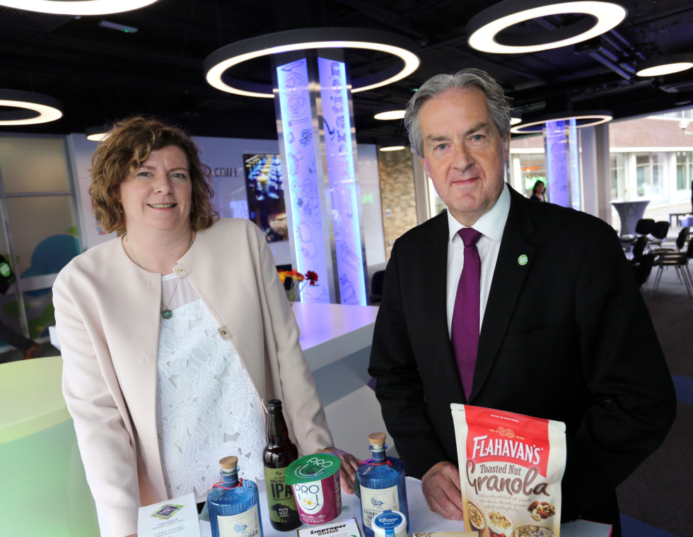 "NO REPRO FEE - BUSINESS - 28/09/2016 -Bord Bia launches state-of-the-art Consumer Research Centre - Pictured are Helen King, Director of Consumer Insight, Bord Bia and Aidan Cotter, Chief Executive, Bord Bia at the launch of their state-of-the-art Consumer Research Centre ""The Thinking House"" located at its headquarters in Dublin today.  IrelandÕs food, drink and horticulture industry will for the first time enjoy unrestricted access to the latest global trends, research, consumer insights and industry innovations thanks to this new integrated, market insight centre. (NO FEE FOR REPRO) Credit Gary O' Neill."