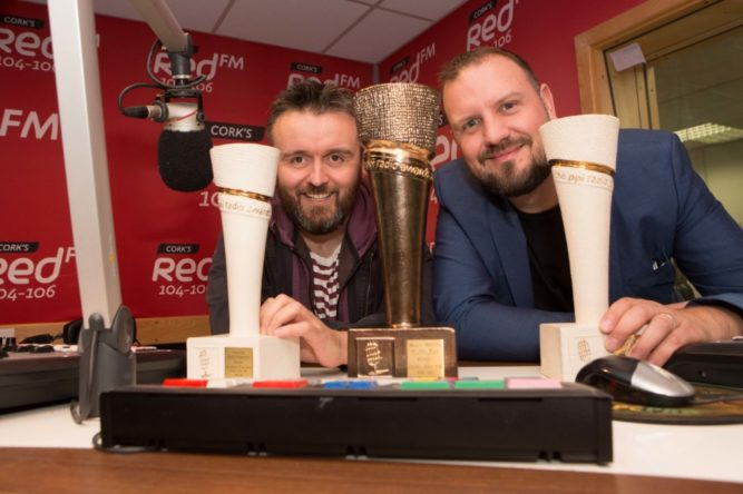 DKANE 10102016 REPRO FREE Jason Coughlan and Keith Cunningham, KC in Cork's Red FM studios . Cork's Red FM are celebrating after completing the Treble at this year's PPI Radio Awards including the prestigious Music Station of the Year. The ceremony which is the highlight of the Radio calendar each year was held on Friday night at the Lyrath Estate in Kilkenny. Comedian and radio DJ Dermot Whelan presented the Awards which were attended by over 700 guests from all over Ireland. In addition to winning Music Station of the year Cork's Red FM also went home with Best Breakfast Programme for the KC Show and Best Interactive Speech Programme for the Neil Prendeville Show. Pic Darragh Kane
