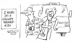 Galway Hooker Cartoon