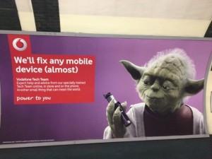 Vodafone Ad with Yoda