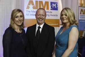 Aidan Power, KBC Bank at AIM Awards