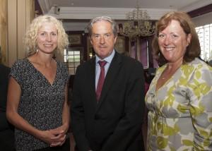 Karen Hand, Aidan Cotter and Margaret Gilsenan at the John Fanning event
