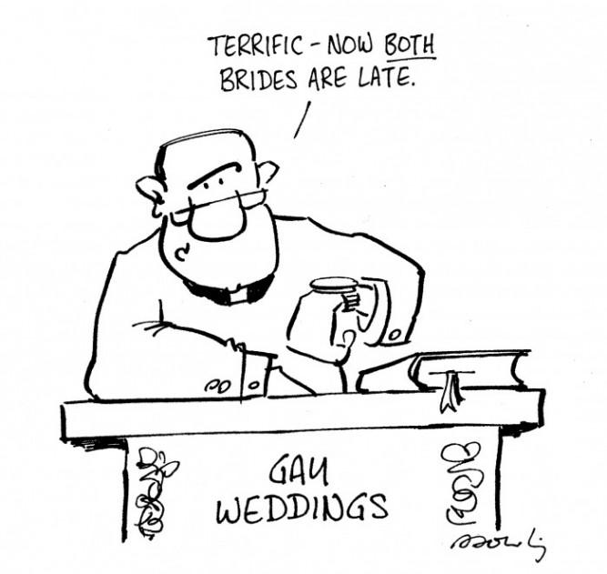 Gay Wedding Cartoon