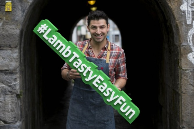 Bord Bia Chef Stu O'Keeffe for Lamb Campaign