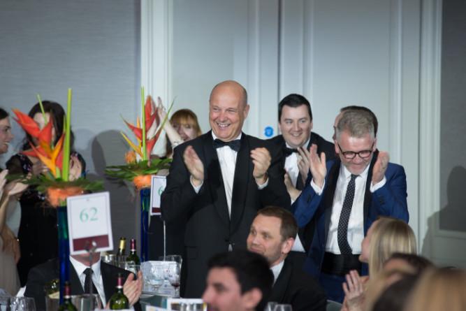 Dave McGloughlin, Irish International for Glanbia at AIM Awards 2015