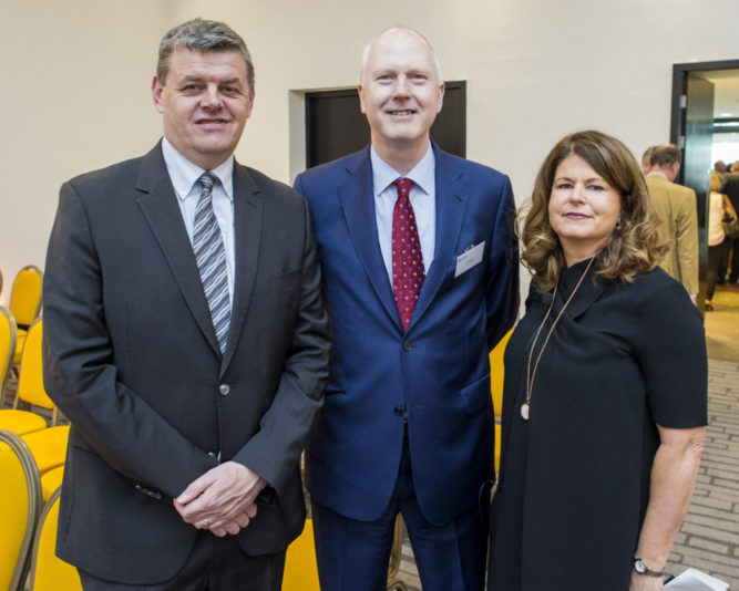 Tuesday 17 May 2016. The Marker Hotel, South Docklands. INM launches it's 'Book of Evidence' The results of Ireland's largest media research study. L to R: Robert Pitt, Alan Cox, Mairead Kearns.