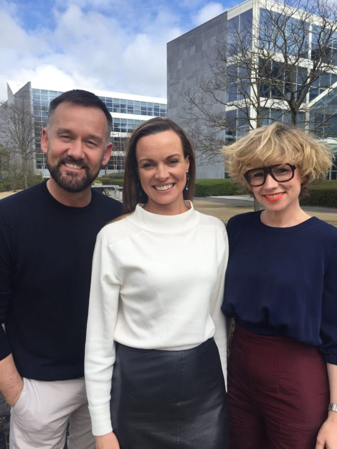 Kevin Courtney, Niamh Deanbs and Sonya Lennon, FrockAdvisor