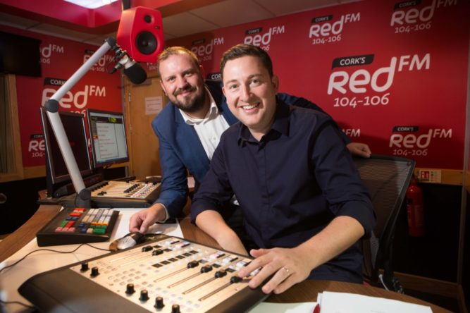 DKANE 29062016 REPRO FREE DJs KC and Ray Foley in the Red FM Studios. DJ Ray Foley Makes a Return to the Airwaves with CorkÕs Red FM Popular Radio and TV Presenter Ray Foley is making a return to radio this summer with CorkÕs Red FM. Starting on July 2nd Ray Foley will be waking up the people of Cork for a special 12 week series every Saturday between 7am & 10am. An award winning DJ, Ray Foley who is currently a presenter on the 7 OÕclock Show on TV3 is excited about the move saying ÒIÕm delighted to be joining CorkÕs number one radio station! IÕve been a fan of Red FM for many years because theyÕre one of the best radio stations in the country.Ó Ray Foley will be very familiar to the people of Cork having presented his very popular self-titled lunchtime show on Today FM for 6 years and also the Irish version of Take Me Out on TV3. Ray Foley will be also be joining his old Today FM colleague at Red FM ÒKC is an old buddy of mine so when he suggested coming on board for Saturday mornings I couldnÕt believe it! Of course I said yesÓ. KC (Keith Cunningham) who is also the programme director was in great humour at the announcement Òafter receiving 600 daily demos from Ray, we have decided that itÕs time to give him a slot. Foley is a super talent on air. Delighted to have him with Corks Number 1 stationÓ. The announcement of Ray Foley comes two years after Neil Prendeville made a move across the city and KC moved back from Dublin, resulting in CorkÕs Red FM becoming the no1 radio station in Cork. Speaking about the latest addition CEO Diarmuid OÕLeary added that ÓCorkÕs Red FM is delighted that Ray Foley is going to be entertaining our listeners on Saturday mornings for the summer Ð we canÕt wait to hear him back on the radio from this weekendÓ. Ray Foley who won 3 Meteor Awards and 5 PPI awards will bring a fresh sound to Saturday mornings in Cork. ÒI've had many brilliant Friday nights out in Cork city, so I should apologise in advance for waking everybody up on Saturday morning. I promise I'll be gentle!Ó he added. The Ray Foley Show on CorkÕs Red FM 104 Ð 106fm starts on Saturday July 2nd at 7am and will run until 17th of September, more details can be found on www.redfm.ie Pic Darragh Kane