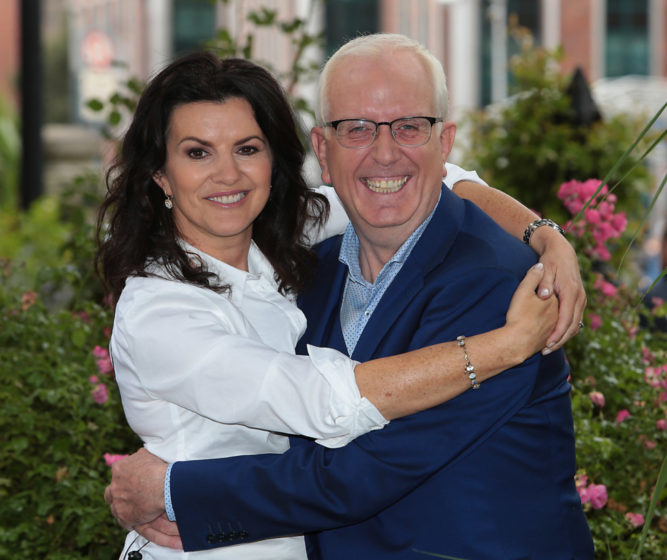 Gogglebox Narrators Deirdre O Kane and Rory Cowan at Tv3's Autumn launch at The National Concert Hall, Dublin. Pictures:Brian McEvoy No Repro fee for one use