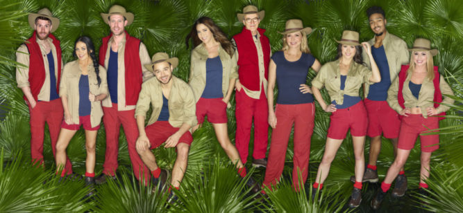 An ITV Studio Production Under Embargo until 22.30 on Monday 7th November 2016. I'M A CELEBRITY ...GET ME OUT OF HERE On ITV Picture shows: JOEL DOMMETT, SCARLETT MOFFATT, WAYNE BRIDGE, ADAM THOMAS, LISA SNOWDON, LARRY LAMB, CAROL VORDERMAN, SAM QUEK, JORDAN BANJO and OLA JORDAN. IÕm a Celebrity... Get Me Out of Here! is back, which can mean only one thing - the time has come for a brand new cast of celebrities to head down under and battle it out in TVÕs toughest entertainment challenge! Leaving their plush pads and luxuries far behind, our celebrity campers will spend up to three weeks taking on the harsh surroundings of the Australian jungle, with a whole host of brand new nasty surprises created just for them. This photograph is (C) ITV Plc and can only be reproduced for editorial purposes directly in connection with the programme or event mentioned above or ITV plc. Once made available by ITV plc Picture Desk, this photograph can be reproduced once only up until the transmission [TX] date and no reproduction fee will be charged. Any subsequent usage may incur a fee. This photograph must not be manipulated [excluding basic cropping] in a manner which alters the visual appearance of the person photographed deemed detrimental or inappropriate by ITV plc Picture Desk. This photograph must not be syndicated to any other company, publication or website, or permanently archived, without the express written permission of ITV Plc Picture Desk. Full Terms and conditions are available on the website www.itvpictures.com For further information please contact: shane.chapman@itv.com