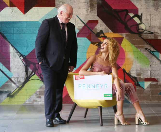 10/11/2016 NO REPRO FEE Pictured is Michael Dawson, CEO of One4all Gift Cards, with top model Thalia Heffernan at the official announcement that Irish retailer Penneys is the latest brand to join One4all, Ireland's leading Gift Card company. The partnership means that shoppers can now redeem their One4all Gift Cards in Penneys stores nationwide. One4all Gift Cards is the market-leading, multi-retailer gift card and is currently accepted in store and online at over 8,000 stores nationwide. For more information, visit www.one4all.ie Photograph: Leon Farrell / Photocall Ireland