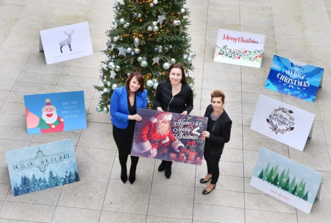 13/12/16 ***NO REPRO FEE***Pictured are Fiona Heffernan, Head of Post Media, An Post (in the middle) alongside Sinead Beggan and Jillian McGuirk of McGuirk Beggan Estate Agents. Recent research by An Post has revealed that 62% of Ireland's workforce would prefer to receive a personalised Christmas card in the post from companies they do business with. This staggering figure far outreaches the desire to receive an eCard via email which came in second at 16%, followed by a text message or an advertisement. Interestingly, 60% of 18-25 year olds said that they would prefer to receive a personalised Christmas card clearly showing that the sentiment to receive physical cards in the post is very strong regardless of age. The survey, carried out by Amarach Research, delves into the idea that customers appreciate a personal touch from businesses. An Post's 'Make it Personal' campaign is making it easier for Irish businesses to reach out directly to their valued customers this Christmas with a personalised festive greeting card. An Post has teamed up with Peter McVerry Trust this Christmas where 20% of every sale goes directly to the charity. AdMailer greeting cards cost €1.50 which includes postage to anywhere in Ireland and minimum order is 200. Further information can be found at www.admailer.ie Pic: Marc O'Sullivan